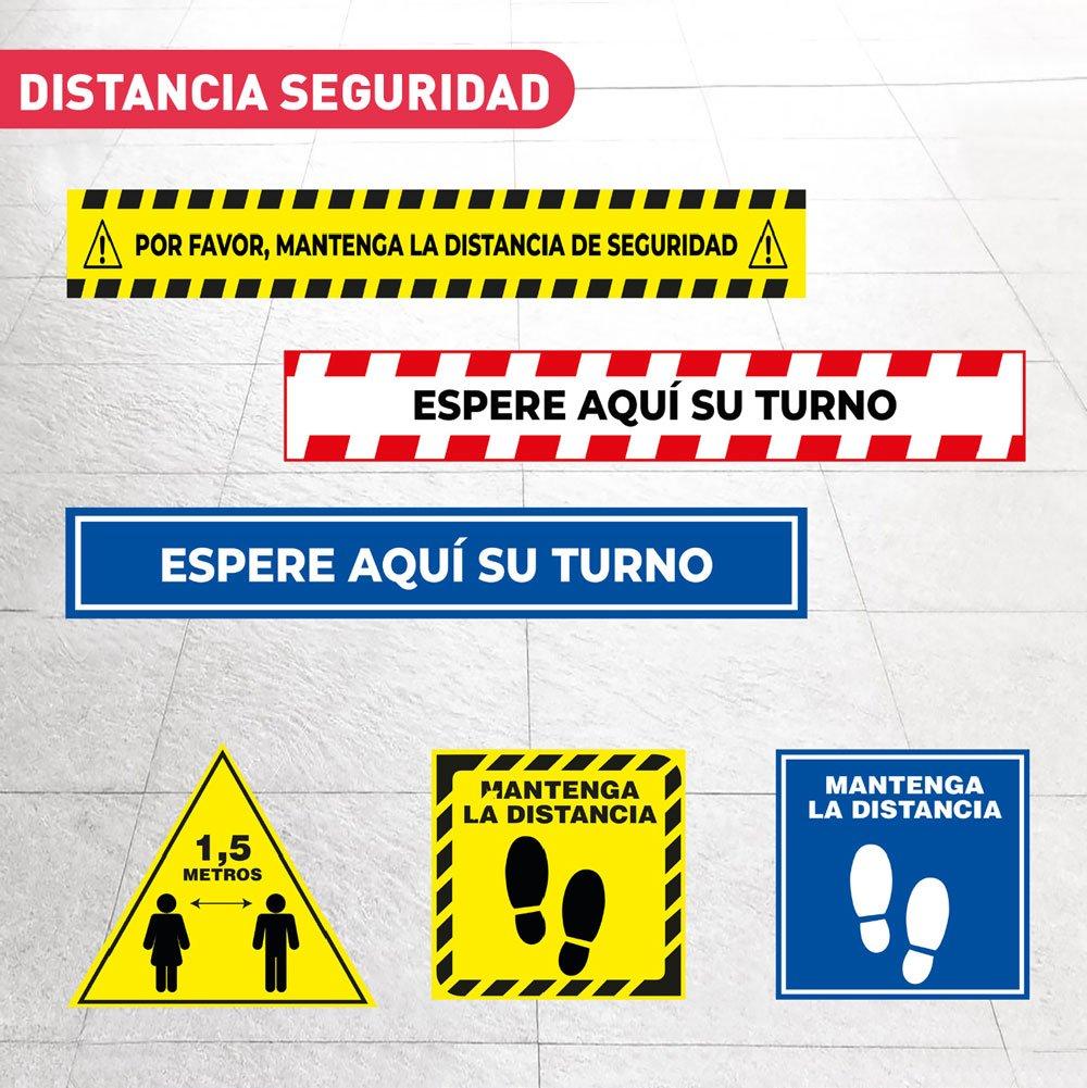 Vinilos distancia de seguridad